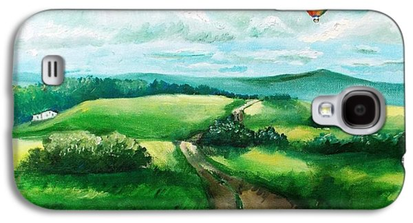 Maine Roads Paintings Galaxy S4 Cases - Summer Flight Galaxy S4 Case by Shana Rowe