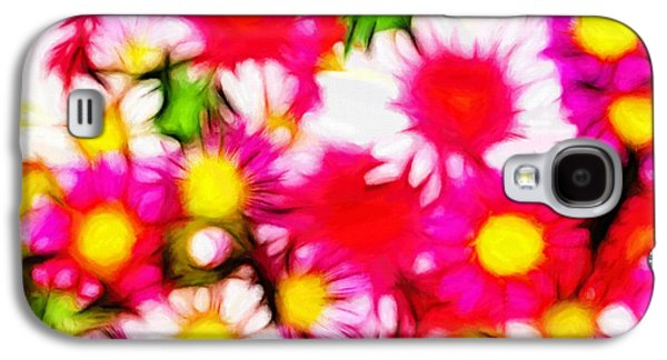 Colorful Abstract Pastels Galaxy S4 Cases - Summer Garden Galaxy S4 Case by Stefan Kuhn