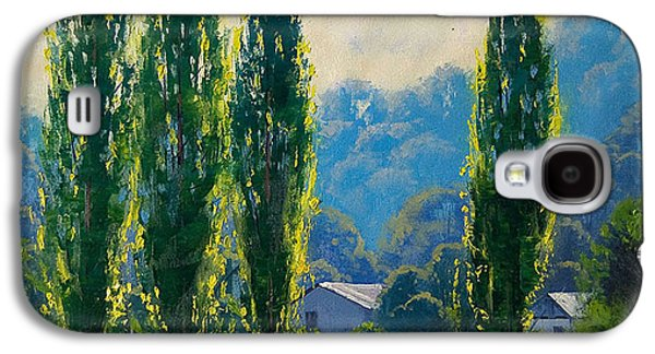 Shed Paintings Galaxy S4 Cases - Summer Greens Galaxy S4 Case by Graham Gercken