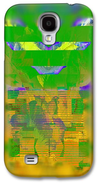 Abstract Digital Galaxy S4 Cases - Summer Heat Through The Window Galaxy S4 Case by Georgiana Romanovna