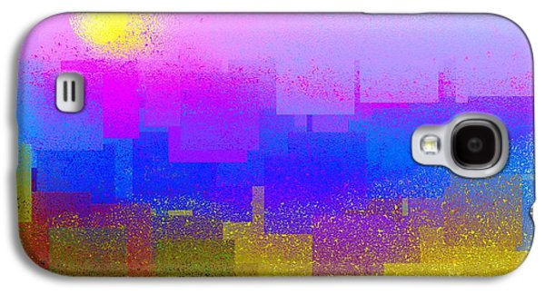 Abstract Digital Art Galaxy S4 Cases - Summer in the City Galaxy S4 Case by Dale   Ford
