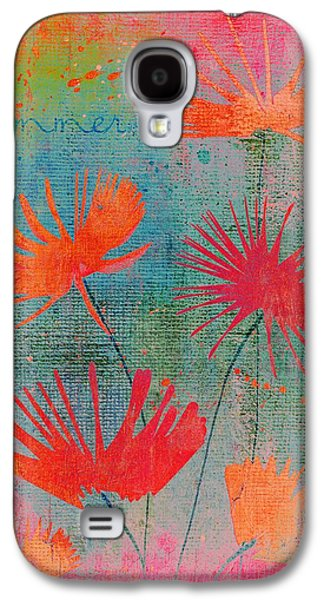 Texture Floral Galaxy S4 Cases - Summer Joy - 44bb Galaxy S4 Case by Variance Collections