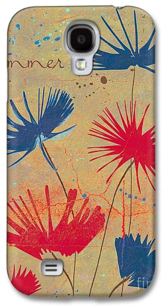 Texture Floral Galaxy S4 Cases - Summer Joy - jy04bb Galaxy S4 Case by Variance Collections