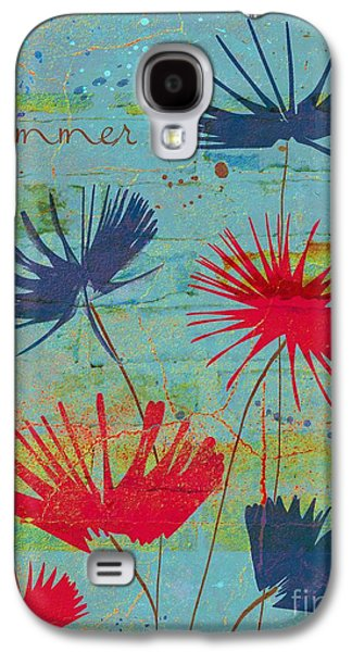 Textured Floral Galaxy S4 Cases - Summer Joy - jy44v2b Galaxy S4 Case by Variance Collections