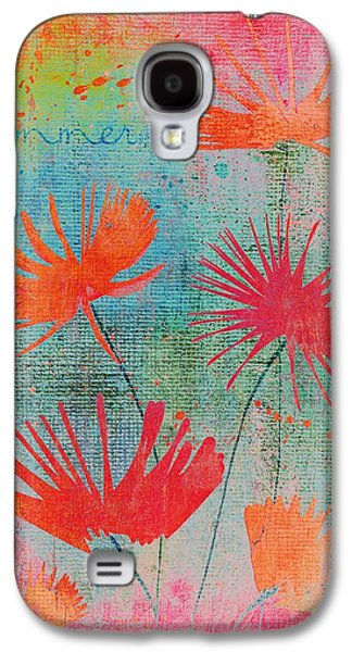 Texture Floral Galaxy S4 Cases - Summer Joy - s44a Galaxy S4 Case by Variance Collections