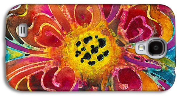 Colorful Flower Art - Summer Love By Sharon Cummings Galaxy S4 Case by Sharon Cummings