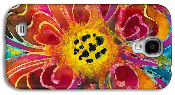 Blue Abstracts Galaxy S4 Cases - Colorful Flower Art - Summer Love by Sharon Cummings Galaxy S4 Case by Sharon Cummings