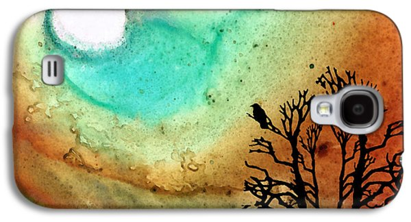 Earth Tones Galaxy S4 Cases - Summer Moon - Landscape Art By Sharon Cummings Galaxy S4 Case by Sharon Cummings