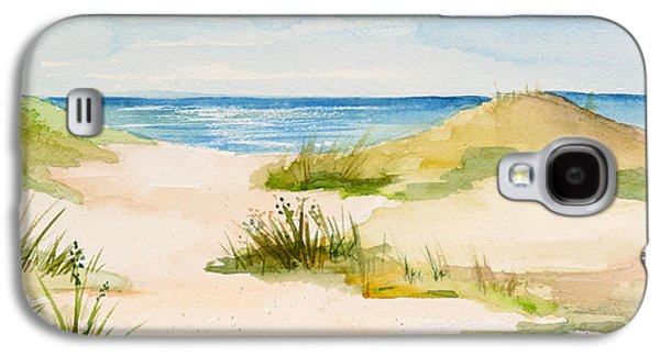 Cape Cod Paintings Galaxy S4 Cases - Summer on Cape Cod Galaxy S4 Case by Michelle Wiarda