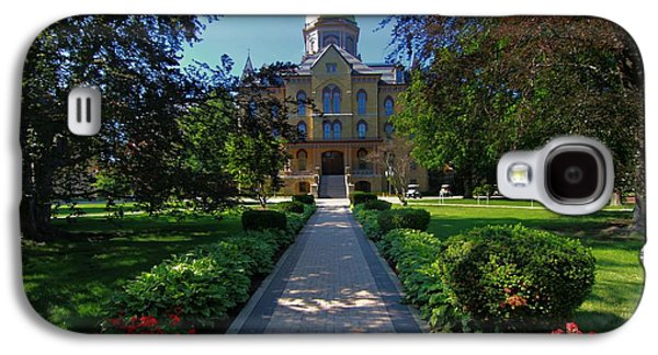 Indiana Flowers Galaxy S4 Cases - Summer On Notre Dame Campus Galaxy S4 Case by Dan Sproul