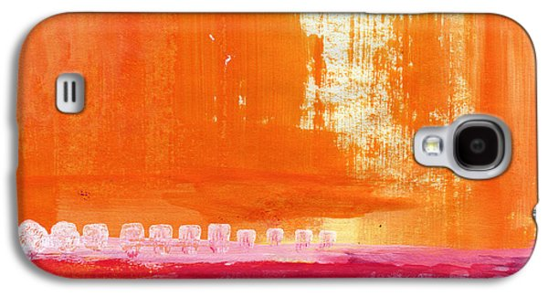"""abstract Landscape"" Galaxy S4 Cases - Summer Picnic- colorful abstract art Galaxy S4 Case by Linda Woods"