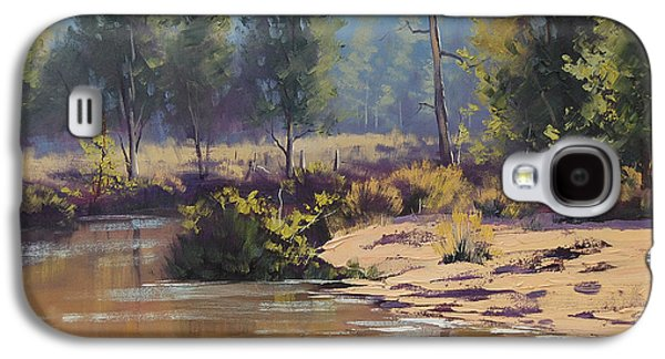 Beautiful Creek Paintings Galaxy S4 Cases - Summer River  Galaxy S4 Case by Graham Gercken