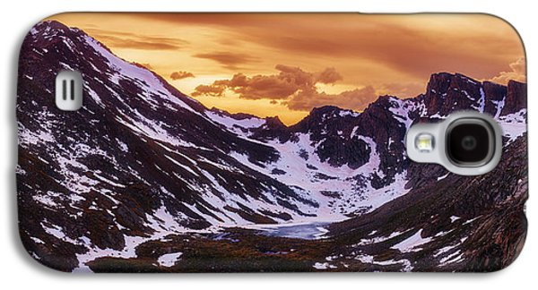 Landscape Acrylic Prints Galaxy S4 Cases - Summer Solstice Sunset Galaxy S4 Case by Darren  White