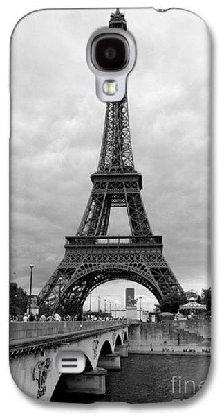 Famous Bridge Galaxy S4 Cases - Summer Storm over the Eiffel Tower Galaxy S4 Case by Carol Groenen