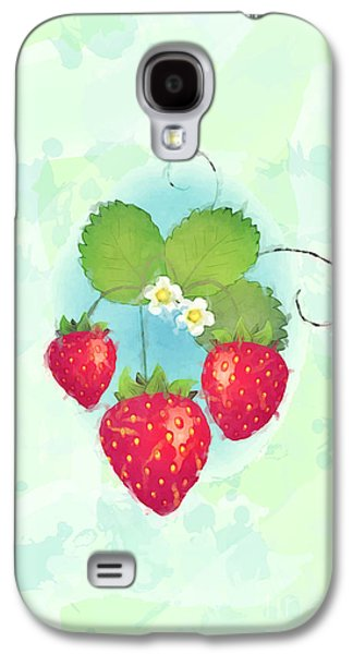 Tendrils Galaxy S4 Cases - Summer strawberries Galaxy S4 Case by Jane Rix