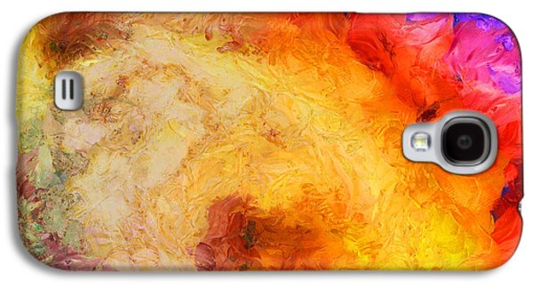 Lively Galaxy S4 Cases - Summer Swirl Galaxy S4 Case by Pixel Chimp