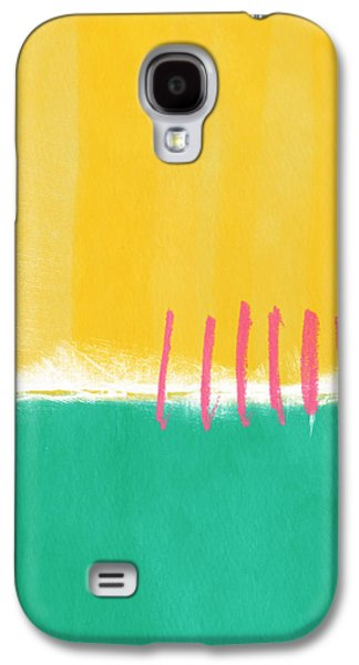 Studio Mixed Media Galaxy S4 Cases - Summer Walk Galaxy S4 Case by Linda Woods