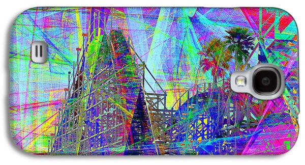Santa Cruz Ca Galaxy S4 Cases - Summertime At Santa Cruz Beach Boardwalk 5D23930 square Galaxy S4 Case by Wingsdomain Art and Photography