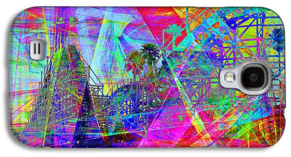 Santa Cruz Ca Galaxy S4 Cases - Summertime At Santa Cruz Beach Boardwalk 5D23930 Galaxy S4 Case by Wingsdomain Art and Photography