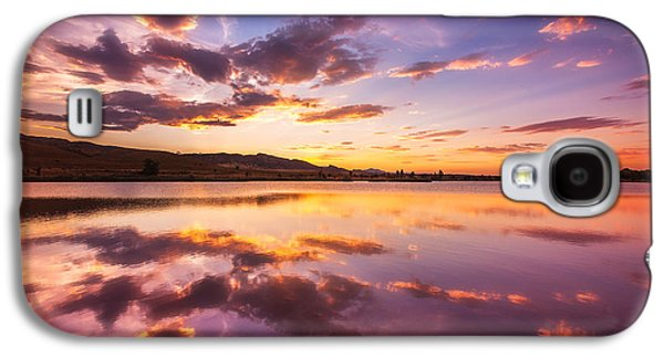 Sunset Framed Prints Galaxy S4 Cases - Summertime Sunset Galaxy S4 Case by Darren  White