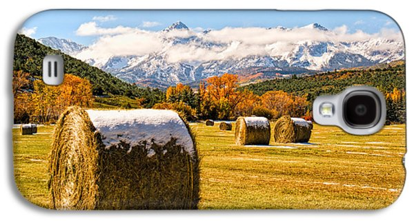 Haybale Galaxy S4 Cases - Sun and Clouds Galaxy S4 Case by Rick Wicker