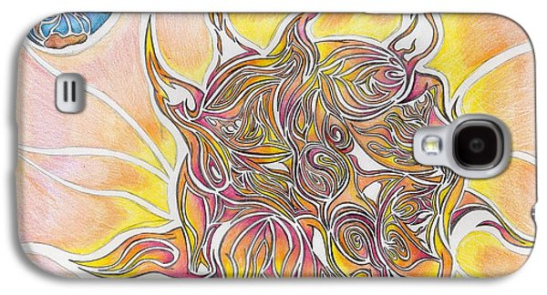 Electricity Drawings Galaxy S4 Cases - Sun and Earth Abstract Drawing Design Galaxy S4 Case by Minding My  Visions by Adri and Ray