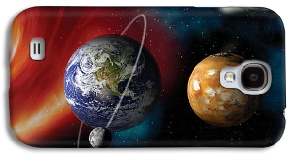 Sun Galaxy S4 Cases - Sun And Planets Galaxy S4 Case by Panoramic Images