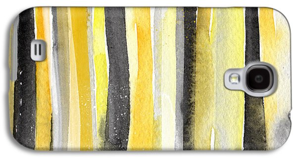 Modern Abstract Galaxy S4 Cases - Sun and Shadows- abstract painting Galaxy S4 Case by Linda Woods
