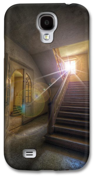 Wooden Stairs Galaxy S4 Cases - Sun At The Top Galaxy S4 Case by Nathan Wright