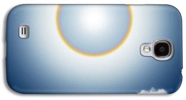 Sunny Mixed Media Galaxy S4 Cases - Sun Halo Galaxy S4 Case by Atiketta Sangasaeng