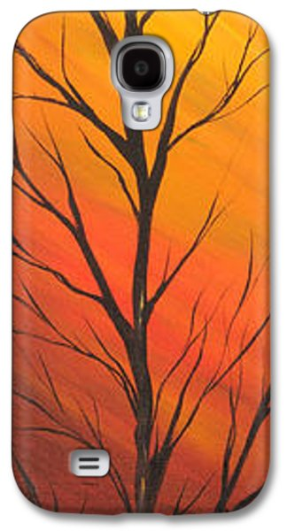 Landscape Acrylic Prints Galaxy S4 Cases - Sun in autumn day Galaxy S4 Case by Roni Ruth Palmer