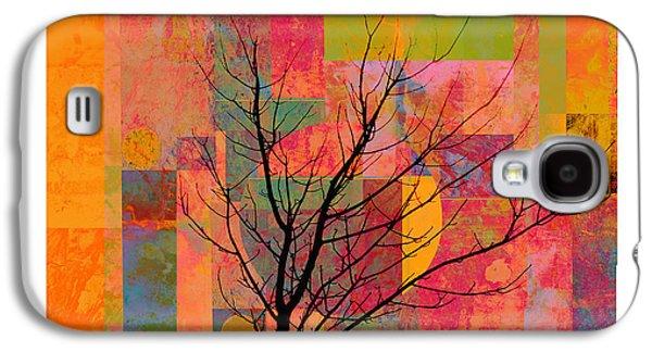 Avant Garde Mixed Media Galaxy S4 Cases - Sun in The City - abstract - art  Galaxy S4 Case by Ann Powell