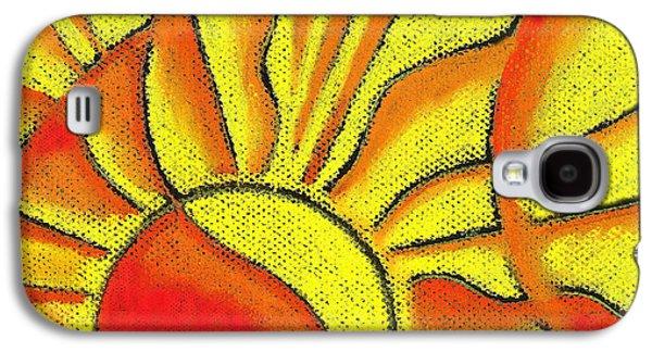 Sun Paintings Galaxy S4 Cases - Sun Galaxy S4 Case by Leon Zernitsky