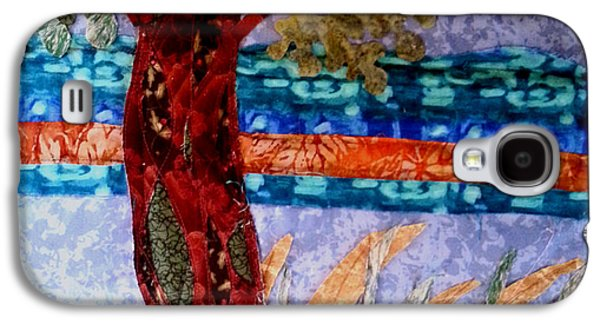 Landscapes Tapestries - Textiles Galaxy S4 Cases - Sun over Arbutus work in progress Galaxy S4 Case by Nikki Dalton