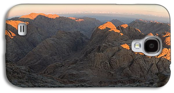 Bible Pyrography Galaxy S4 Cases - Sun Rising on Sinai - Wide Angle Panorama Galaxy S4 Case by Julis Simo