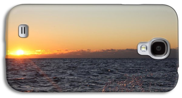 Reflection Of Sun In Clouds Galaxy S4 Cases - Sun Rising Through Clouds in Rough Waters Galaxy S4 Case by John Telfer