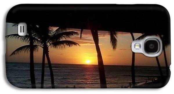 Sun Sculptures Galaxy S4 Cases - Sun Set Walk Galaxy S4 Case by Jean Slay-Gueths