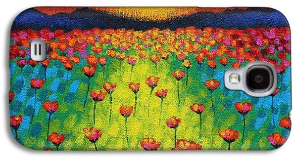 Edition Galaxy S4 Cases - Sunburst Poppies Galaxy S4 Case by John  Nolan