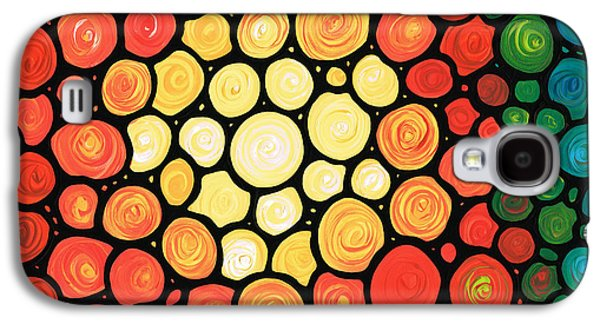 Sun Paintings Galaxy S4 Cases - Sunburst Galaxy S4 Case by Sharon Cummings