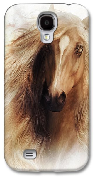 Horses Digital Galaxy S4 Cases - Sundance Horse Portrait Galaxy S4 Case by Shanina Conway