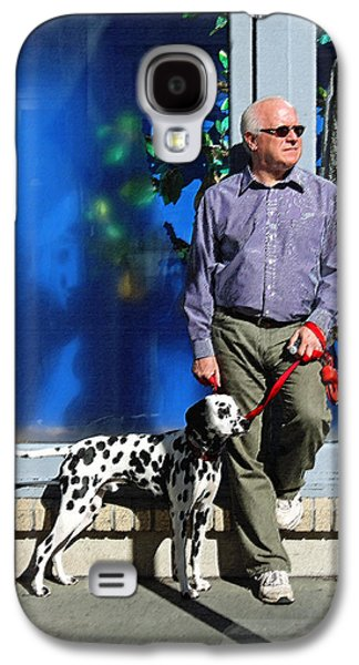 Dog Walking Digital Art Galaxy S4 Cases - Sunday Afternoon on King Street Galaxy S4 Case by Suzanne Gaff