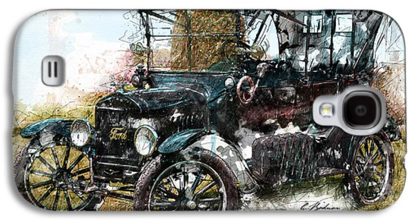 Ford Model T Car Galaxy S4 Cases - Sunday Driver Galaxy S4 Case by Gary Bodnar