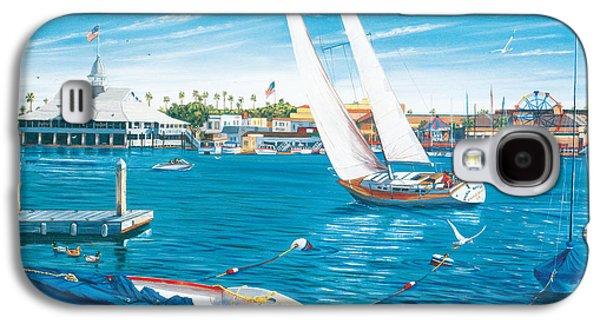 Harbor Paintings Galaxy S4 Cases - Sunday Sail Galaxy S4 Case by Steve Simon