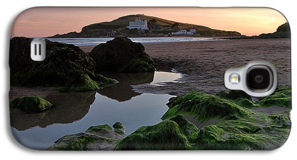 Tidal Photographs Galaxy S4 Cases - Sundown on the Beach  at Bigbury on Sea in Devon Galaxy S4 Case by Louise Heusinkveld