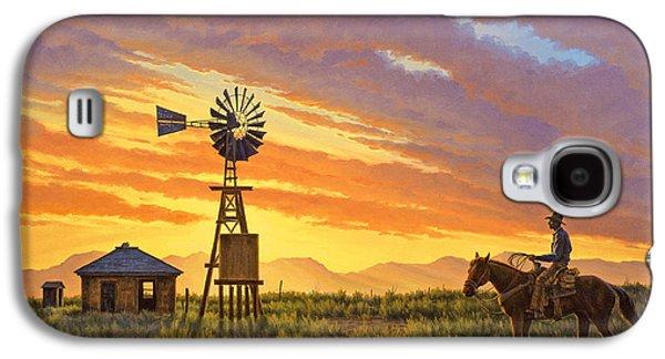 Windmill Galaxy S4 Cases - Sundowner Galaxy S4 Case by Paul Krapf