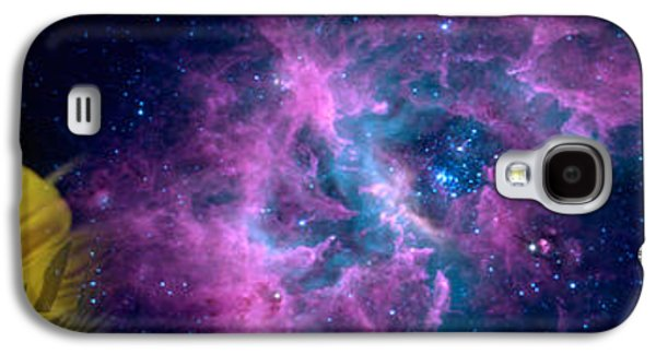 Concept Photographs Galaxy S4 Cases - Sunflower And Koi Carp In Space Galaxy S4 Case by Panoramic Images
