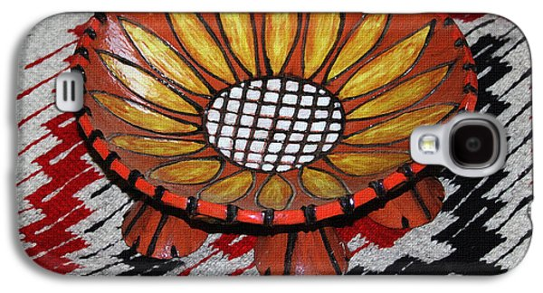 Floral Ceramics Galaxy S4 Cases - Sunflower Bowl On Rug Galaxy S4 Case by Tom Janca