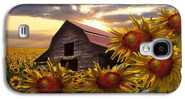 Sunflower Dance Galaxy S4 Case by Debra and Dave Vanderlaan