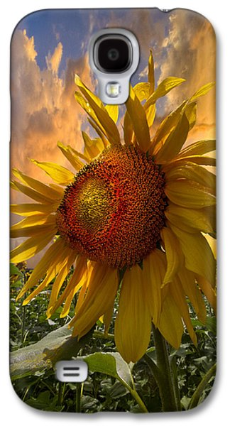 Landscapes Photographs Galaxy S4 Cases - Sunflower Dawn Galaxy S4 Case by Debra and Dave Vanderlaan