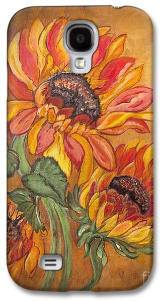 Religious Drawings Galaxy S4 Cases - Sunflower Enchantment Galaxy S4 Case by Ella Kaye Dickey